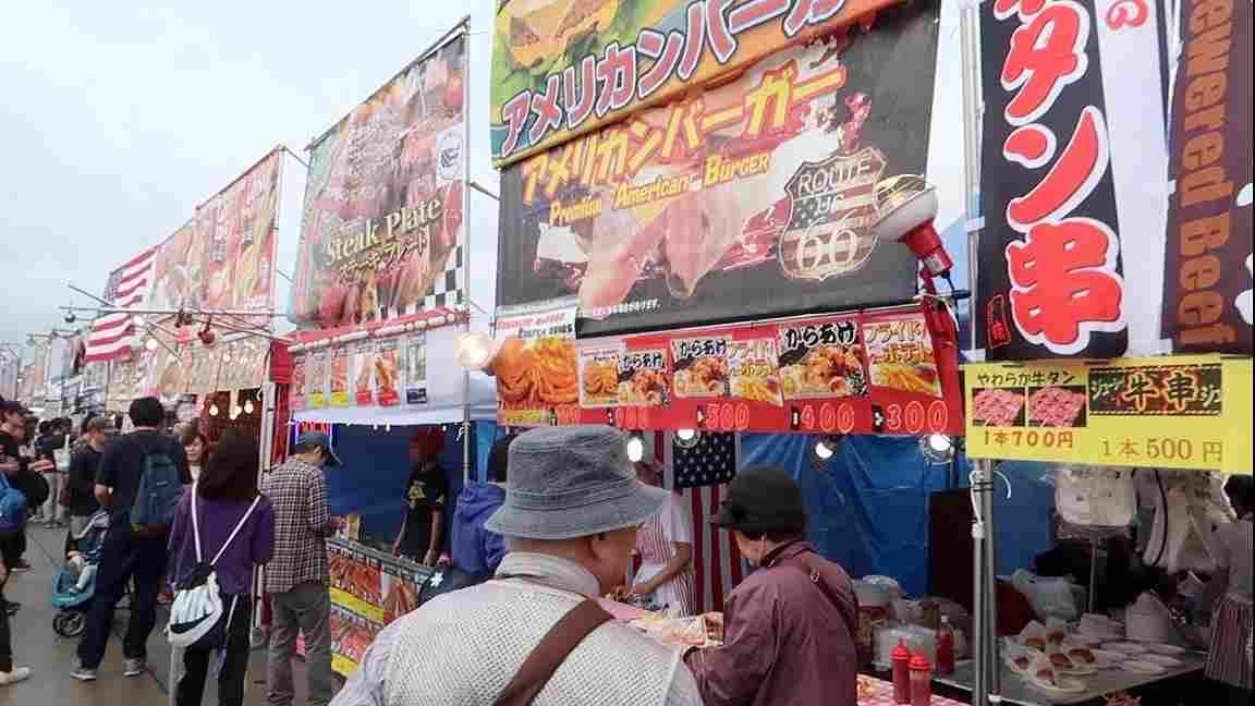 横田基地日米友好祭の食べ物の出店の種類やメニュー