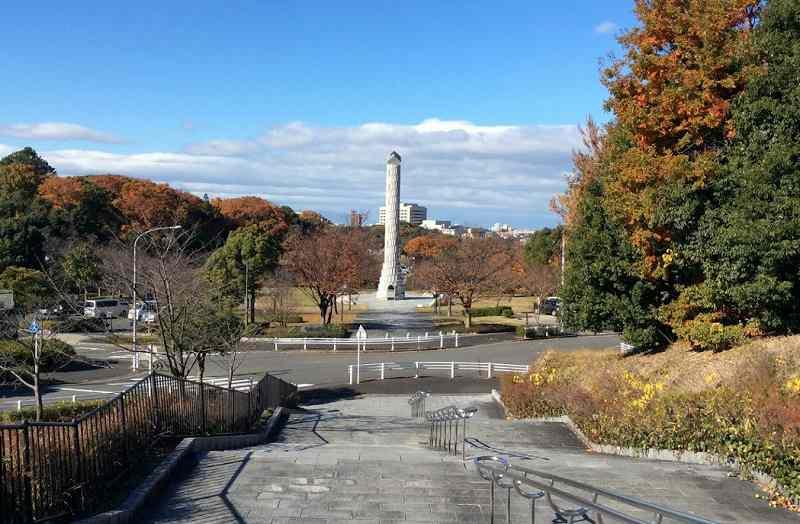 ペルセウス座流星群の観測スポットの平和公園虹の塔周辺