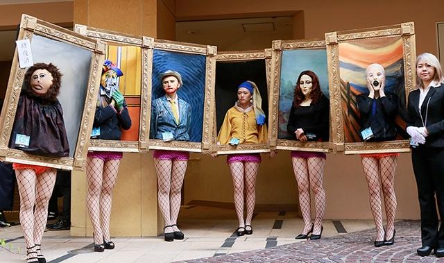 川崎ハロウィンアワード2018年グランプリ(優勝)「ハロウィンパーティに来た絵画達」