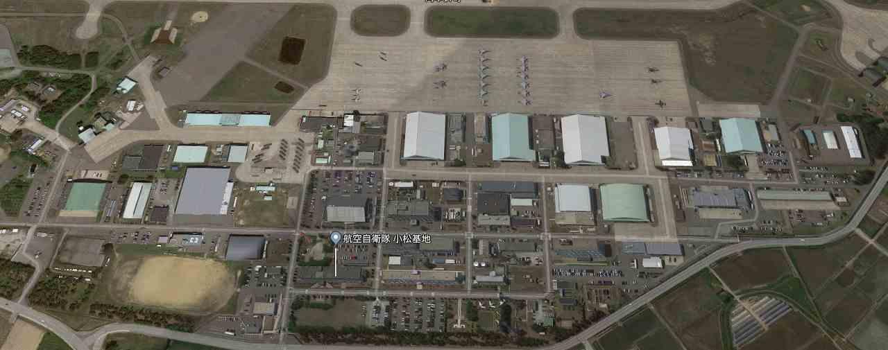 上空から見た航空自衛隊小松基地
