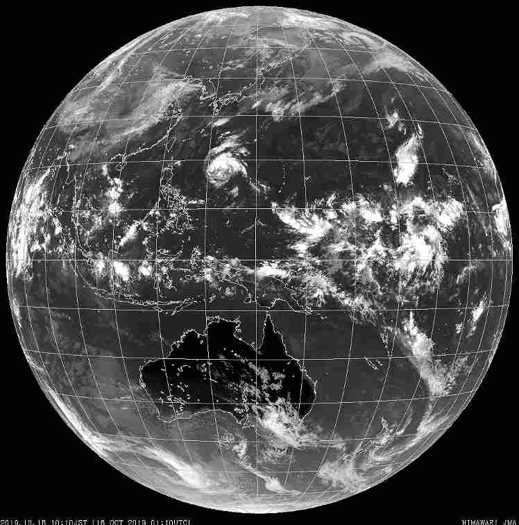 熱帯低気圧は台風20号発生となるか?気象庁の衛星写真