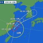 2019年台風18号の進路は?九州北部の福岡や四国南部の高知に大雨被害?飛行機の欠航の影響は?