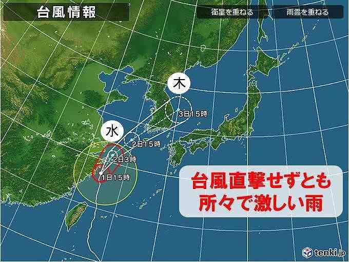 2019年台風18号予想進路