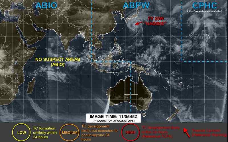 台風19号米軍JTWC最新情報
